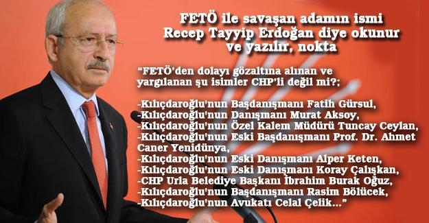 FETÖ ile savaşan adamın ismi Recep Tayyip Erdoğan diye okunur ve yazılır, nokta