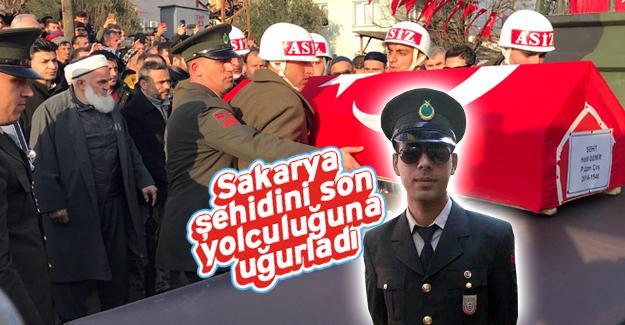 İdlib şehidi Uzman Çavuş Halil Demir son yolculuğa uğurlandı