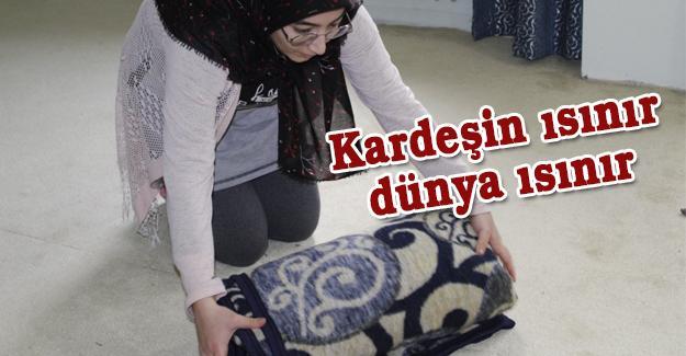 İdlib'e battaniye gönderdiler