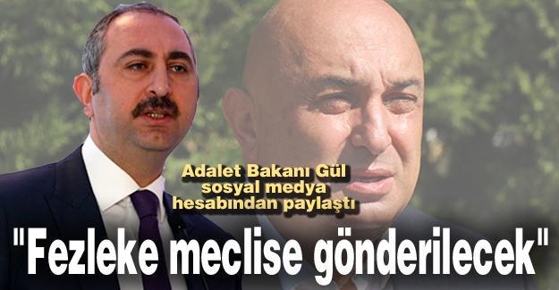 Adalet Bakanı Gül sosyal medya hesabından paylaştı