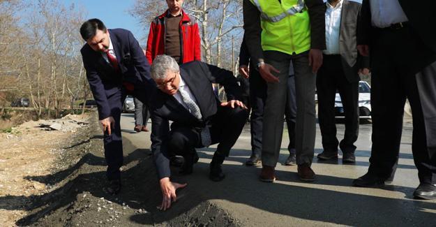 Karapınar'da beton yol çalışmaları başladı