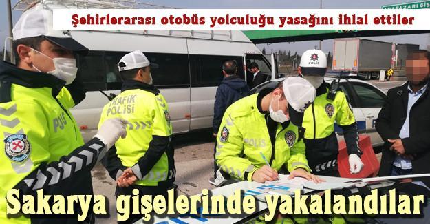 Şehirlerarası otobüs yolculuğu yasağını ihlal ettiler