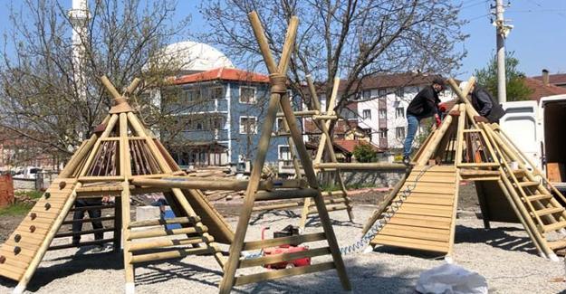 Başkan Özen'den çocuklar için sürpriz park