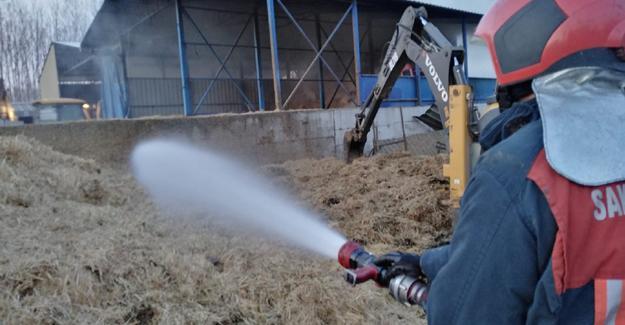 Besi çiftçiliğinde yangın