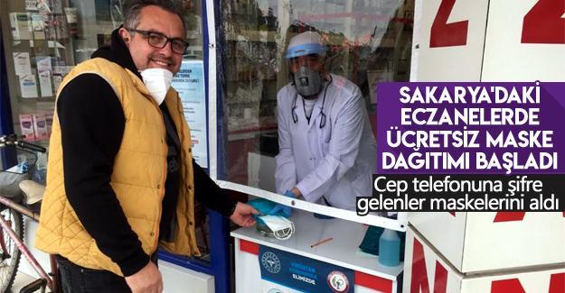 Sakarya'daki eczanelerde ücretsiz maske dağıtımı başladı