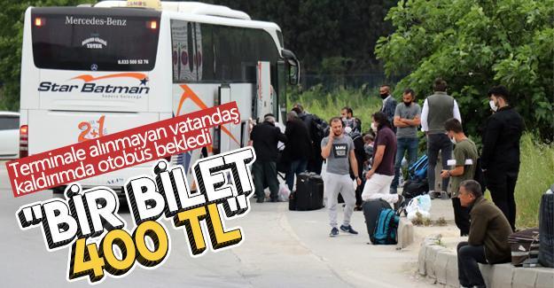 Saatlerce otobüs bekleyip fiyatlara tepki gösterdiler