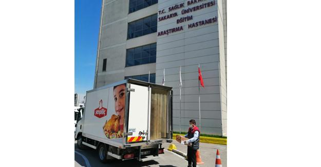 Şenpiliç'ten pandemi hastanelerine kumanya yardımı