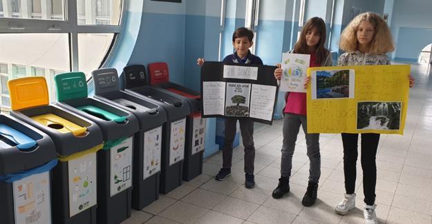 Aykut Yiğit Ortaokulu Sıfır Atık Projesi ile Avrupa Kalite Etiketi yolunda