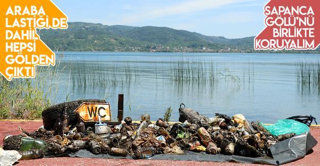 Dalgıçlar ve çevre gönüllüleri gölü temizledi