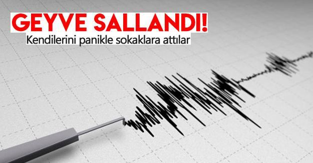 Geyve'de deprem!