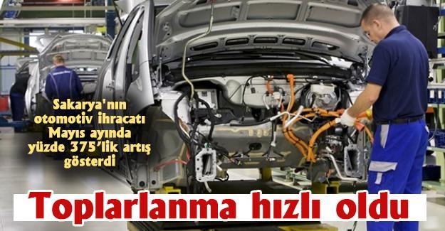 Sakarya'nın otomotiv ihracatı Mayıs ayında yüzde 375'lik artış gösterdi