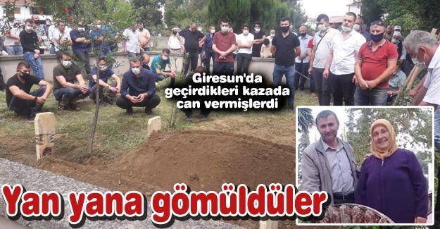 Yan yana gömüldüler!