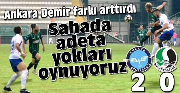 Ankara Demir farkı 2'ye çıkardı! 2-0