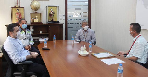Başkan Yardımcısı Lütfü Tansı'dan Toyota Boshoku'ya ziyaret