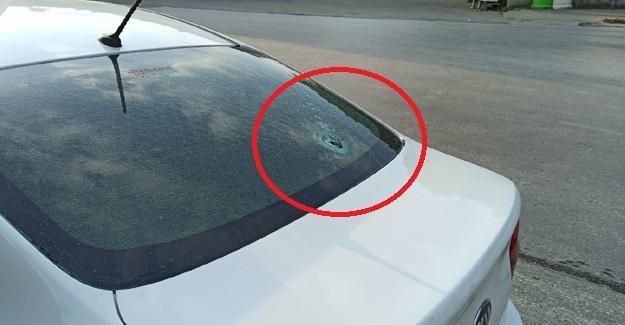 Maganda kurşunu park halindeki aracın camına isabet etti