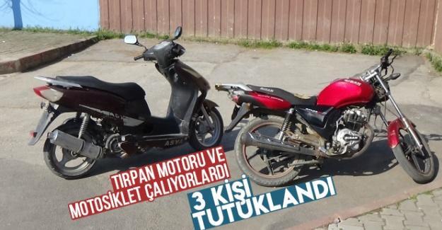 Tırpan motoru ve motosiklet hırsızları yakalandı