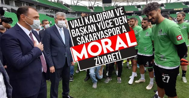 Vali Kaldırım ve Başkan Yüce'den Sakaryaspor'a ziyaret