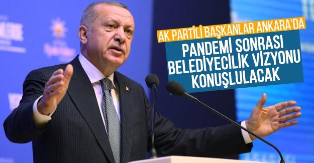 AK Partili başkanlar Ankara'da