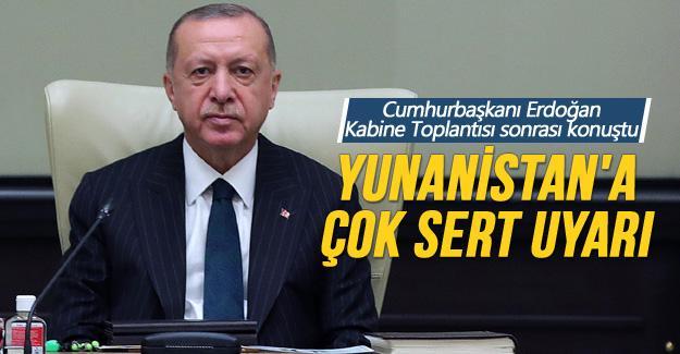 Cumhurbaşkanı Erdoğan Kabine Toplantısı sonrası konuştu