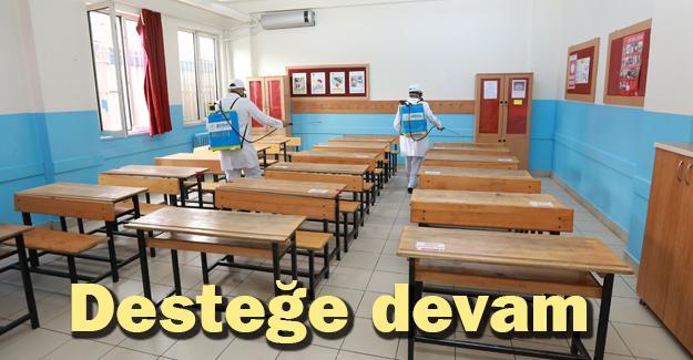 Adapazarı'nda okullar dezenfekte ediliyor