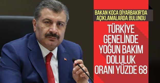 Bakan Koca Diyarbakır'da açıklamalarda bulundu