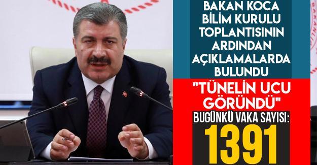 """Bakan Koca: """"Tünelin ucu göründü"""""""