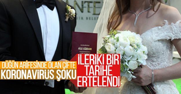 Düğün arifesinde olan çifte virüs şoku