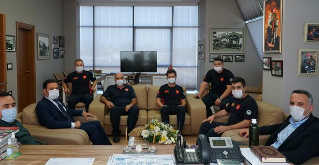 İl Başkanı Tever İtfaiye Teşkilatını ziyaret etti