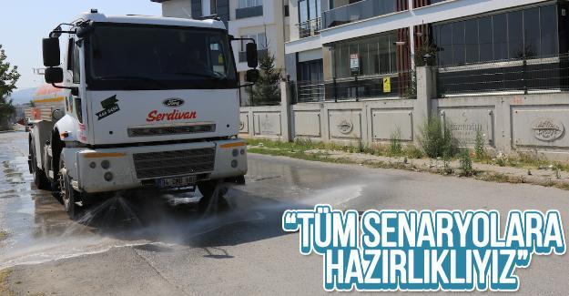 Serdivan Belediyesi dezenfente çalışmaları sürdürüyor