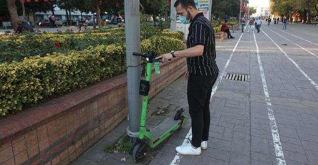 Çevreci ulaşım aracı martı scooterlar Sakarya'da