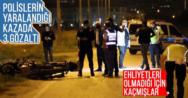 Polislerin yaralandığı kazada 3 gözaltı
