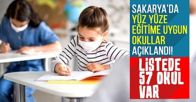 Sakarya'da yüz yüze eğitime uygun okullar açıklandı!