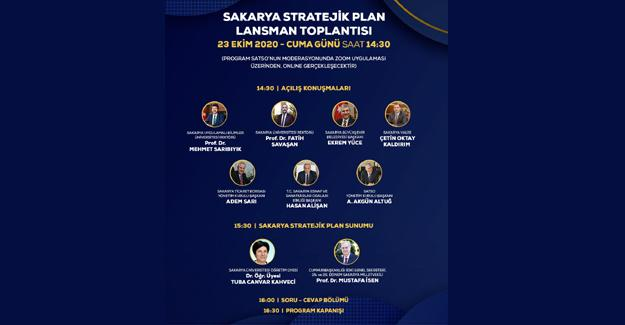 Sakarya stratejik planı lansmanı online yapılacak