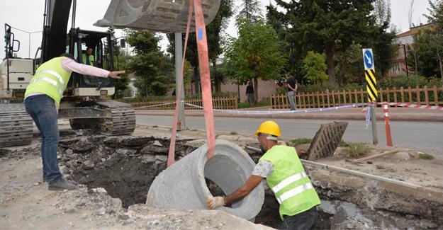 Şehrin merkezine güçlü alt yapı için ilk kazma