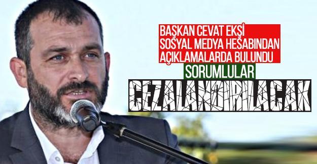 Başkan Cevat Ekşi sosyal medya hesabından açıklamalarda bulundu