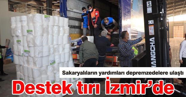 Destek tırı İzmir'de
