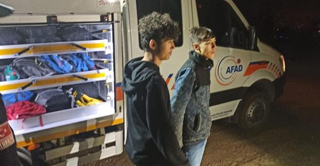 Kayıp gençleri AFAD buldu