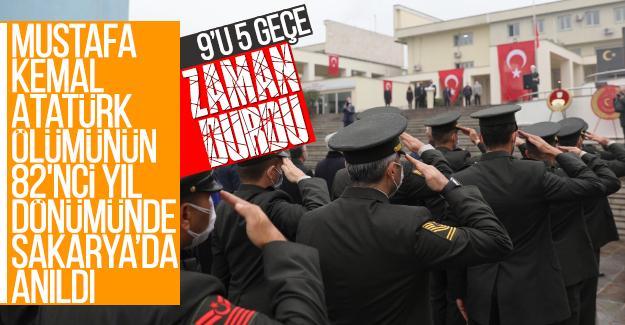 Mustafa Kemal Atatürk 82'nci yıl dönümünde Sakarya'da anıldı