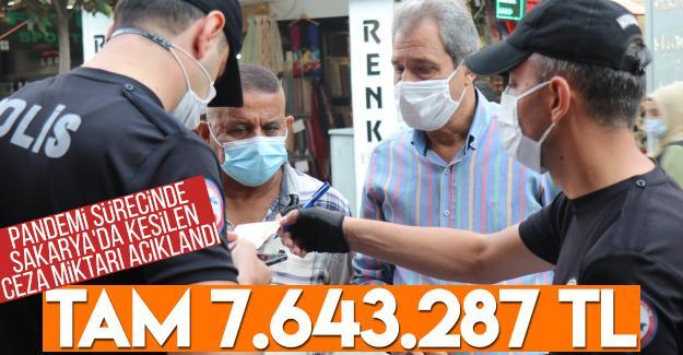 Pandemi sürecinde Sakarya'da kesilen ceza miktarı açıklandı