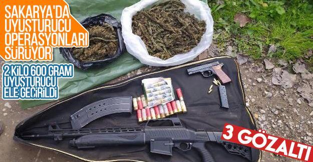 Sakarya'da uyuşturucu operasyonları sürüyor