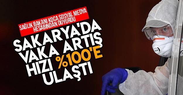 Sakarya'da vaka artış hızı yüzde 100'e ulaştı!