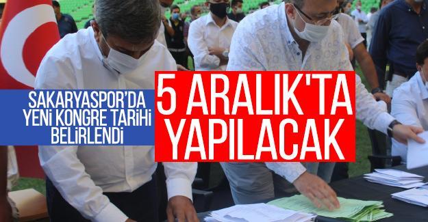 Sakaryaspor'da kongre 5 Aralık'ta yapılacak