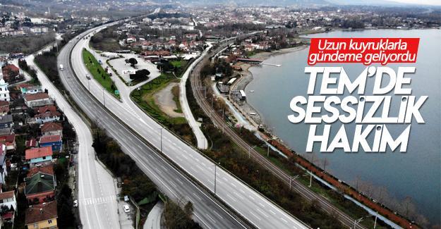 Ankara ile İstanbul'u birbirine bağlayan TEM'de sessizlik hakim