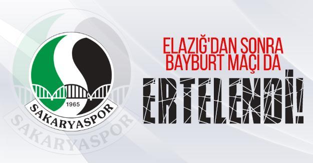 Elazığ'dan sonra Bayburt maçı da ertelendi!