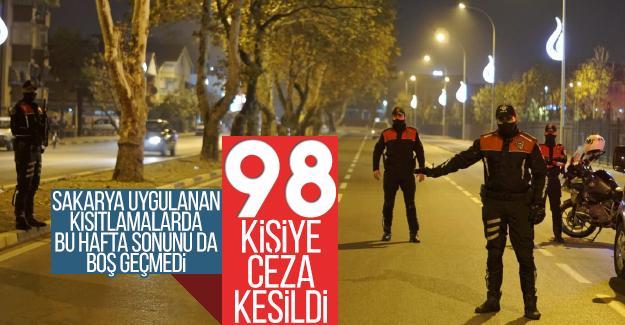 Hafta sonu kısıtlamaya uymayan 98 kişiye ceza kesildi