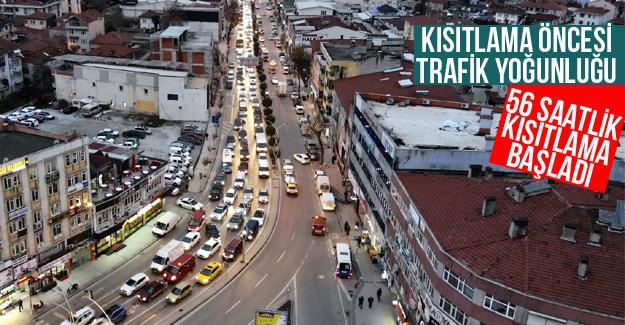 Kısıtlama öncesi trafik yoğunluğu yaşandı