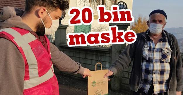 Kocaali'de 5 mahallede maske dağıtıldı