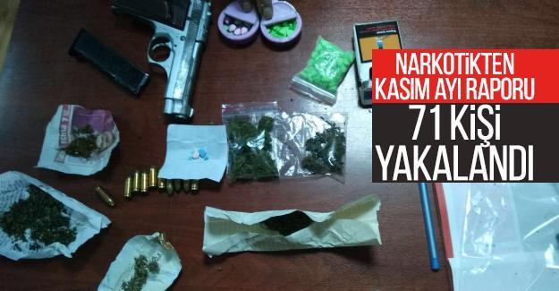 Narkotikten Kasım ayı raporu