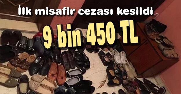 Sakarya'da ilk misafir cezası kesildi!