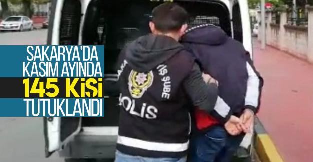 Sakarya'da Kasım ayında 145 kişi tutuklandı